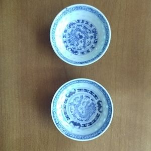 (2for1)Vintage blue and white small bowl